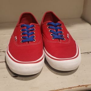 Vans red canvas ultracush sk8